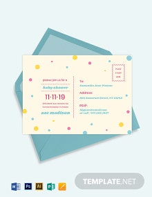 kids party postcard template