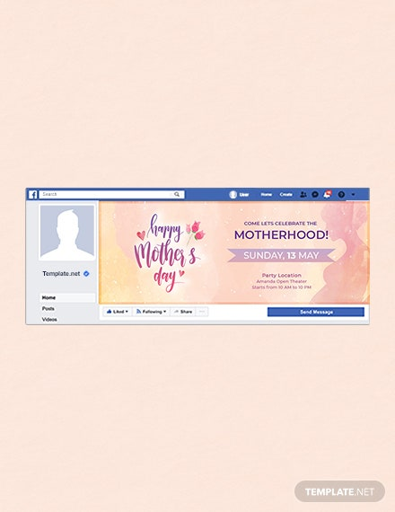 free mothers day facebook event cover template download 536 social