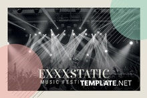 Music Event Postcard Template
