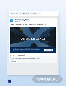 Business Services Facebook Ad Banner Template