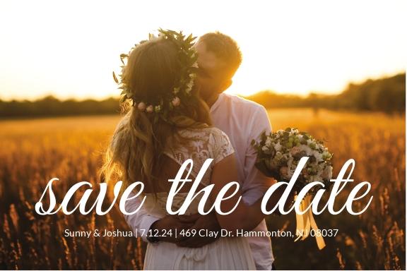 Wedding Photography Postcard Template