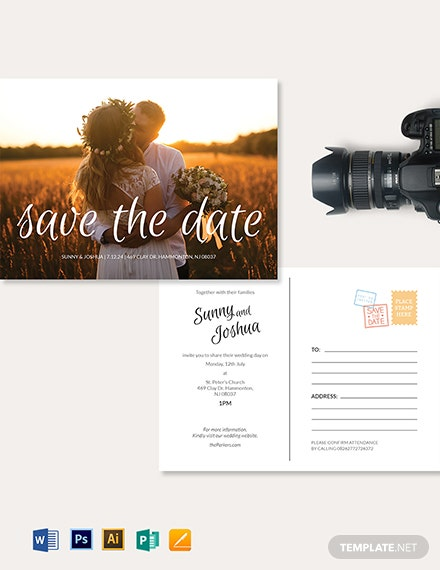 Wedding Photography Postcard Template
