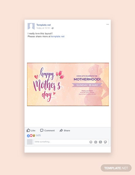 Free Mother's Day Facebook Post Template