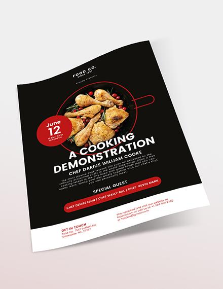 Cooking Flyer Sample
