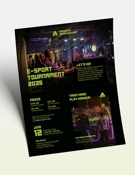 Gaming Flyer Download