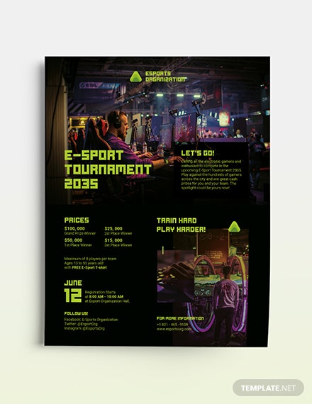 Gaming Flyer Template