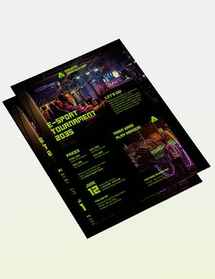 Sample Gaming Flyer