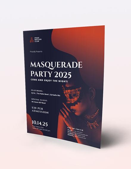 Masquerade Party Flyer Download
