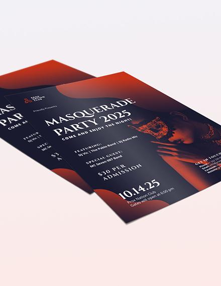 Sample Masquerade Party Flyer