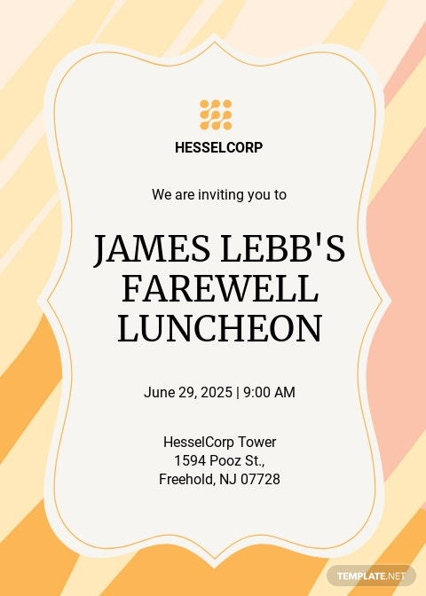 Farewell Luncheon Invitation Template