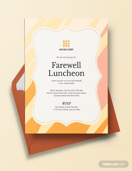 farewell luncheon invitation