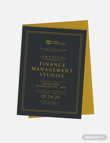 Financial Seminar Invitation Download
