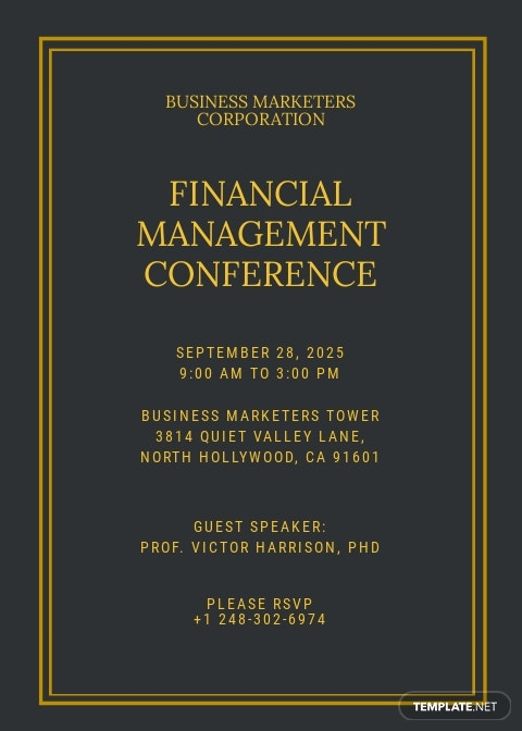 Financial Seminar Invitation Template.jpe