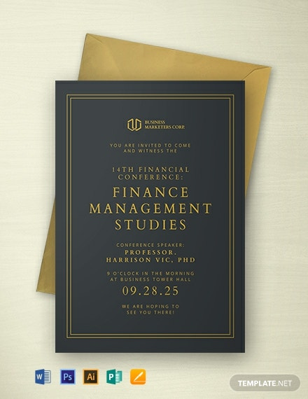 Financial Seminar Invitation Template