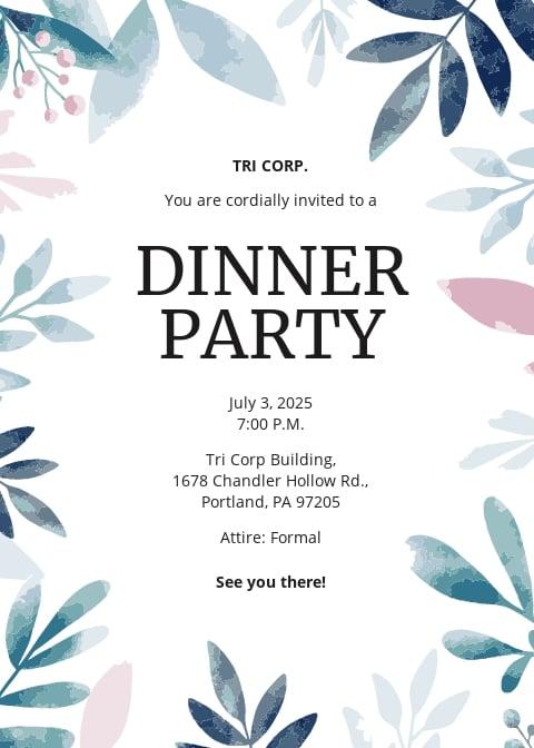 Formal Business Dinner Invitation Template.jpe