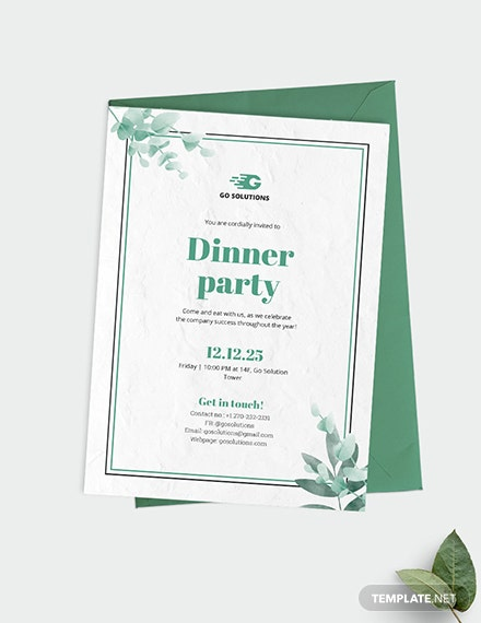 Formal Dinner Party Invitation Download