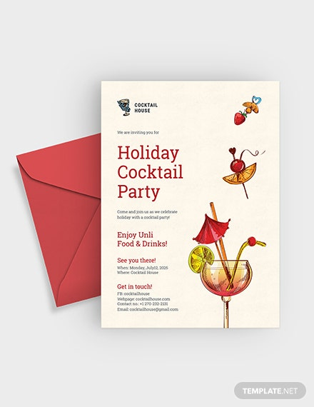 Holiday Cocktail Party Invitation Download