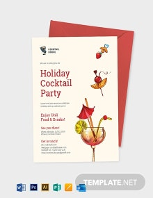 Holiday Cocktail Party Invitation Template