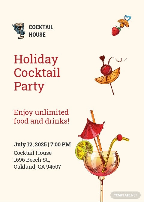 Holiday Cocktail Party Invitation Template.jpe