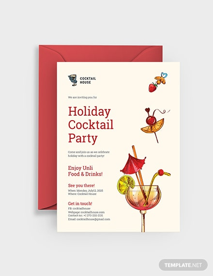 Sample Holiday Cocktail Party Invitation