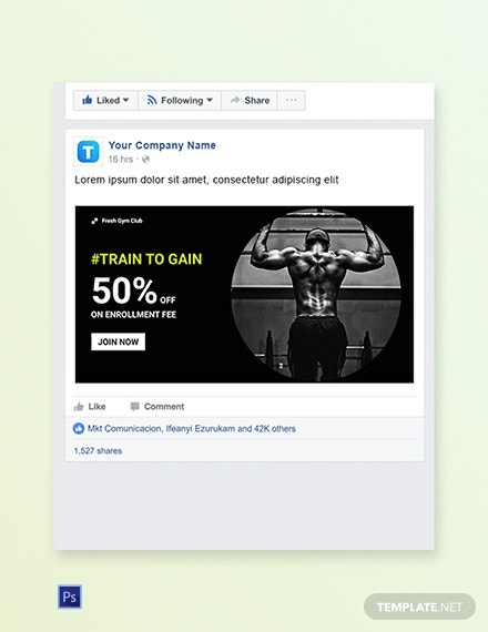 Gym Facebook Ad Banner Template