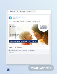 Health Care Facebook Ad Banner Template