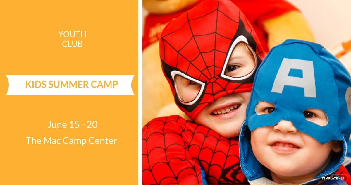 Kids Camp Facebook Ad Banner Template