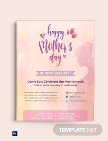 Free Mother's Day Creative Flyer Template