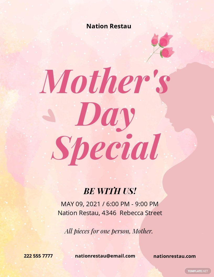 Mother's Day Creative Flyer Template