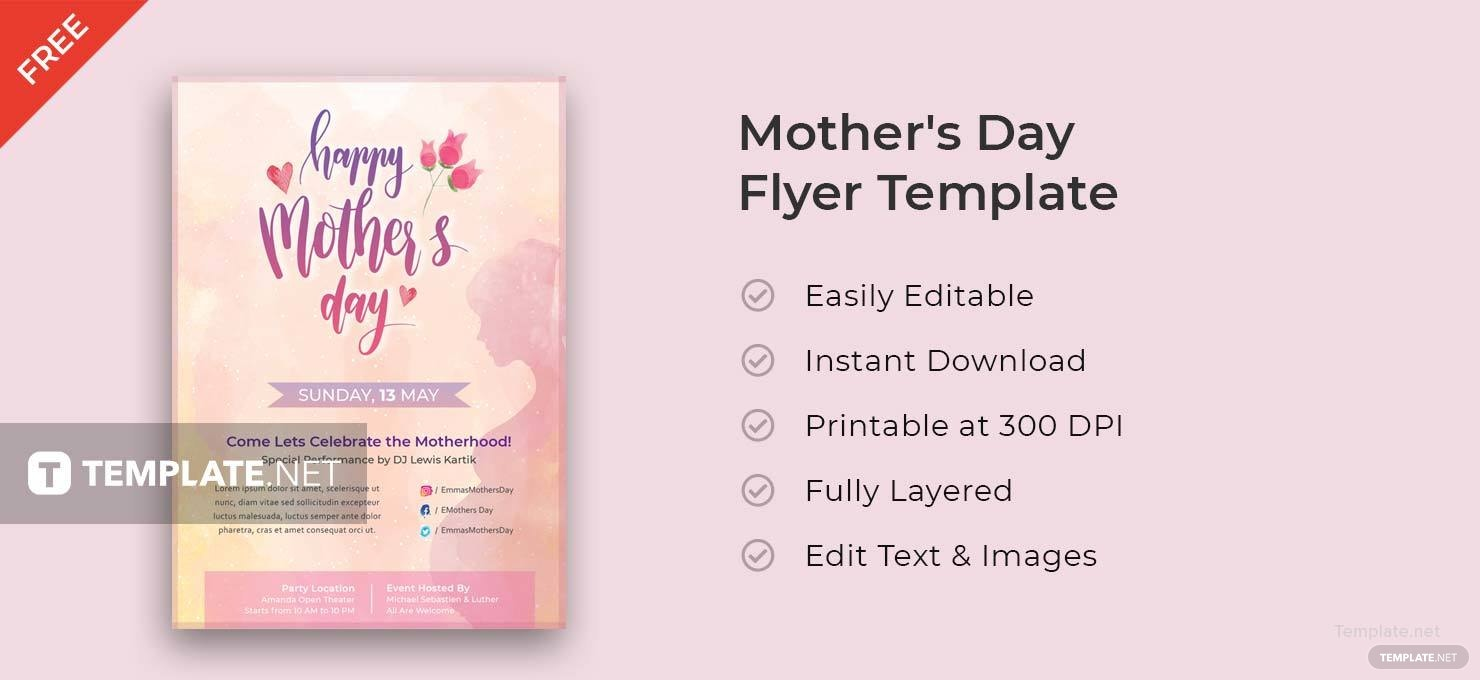 Beautiful Mother's Day Flyer
