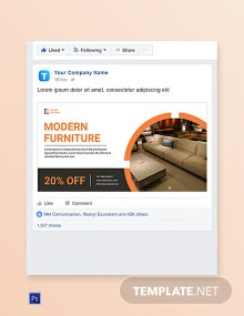 Product Sale Facebook Ad Banner Template