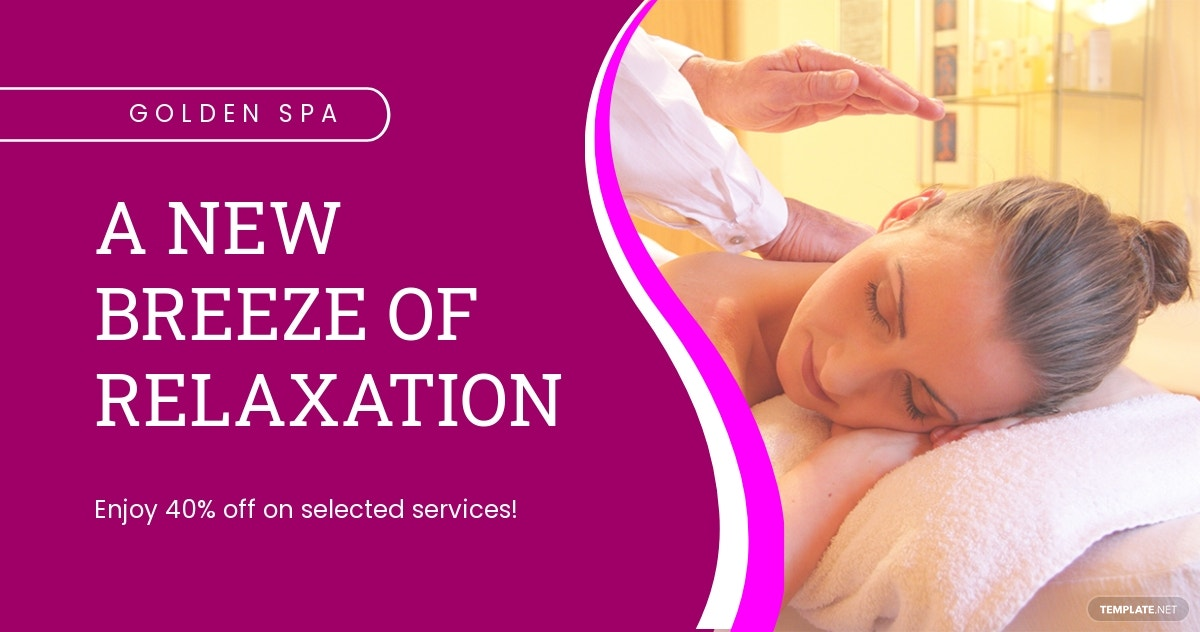 Spa Facebook Ad Banner Template