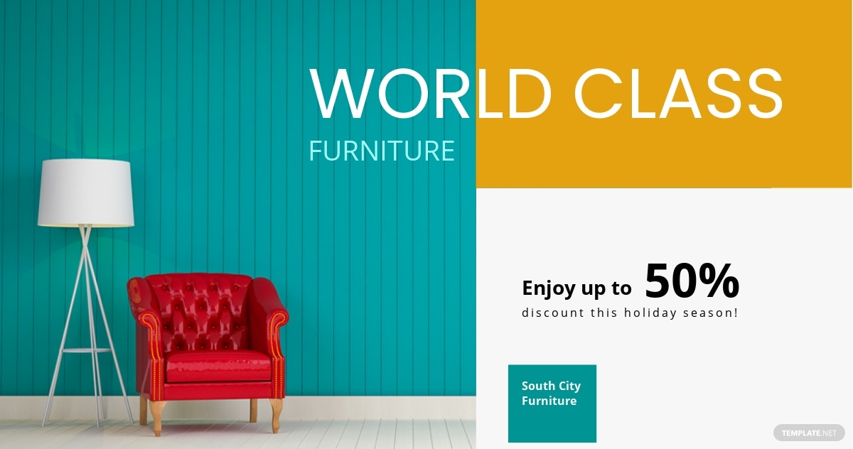 Furniture Facebook Ad Banner Template