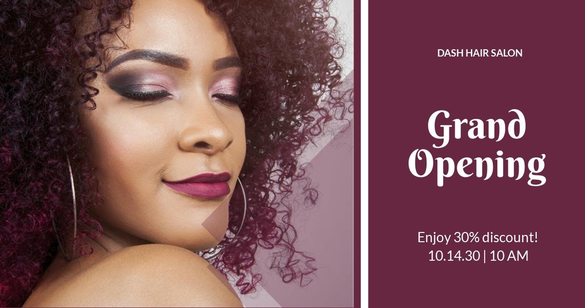 Hair Salon Facebook Ad Banner Template