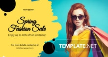 Promotion Facebook Ad Banner Template