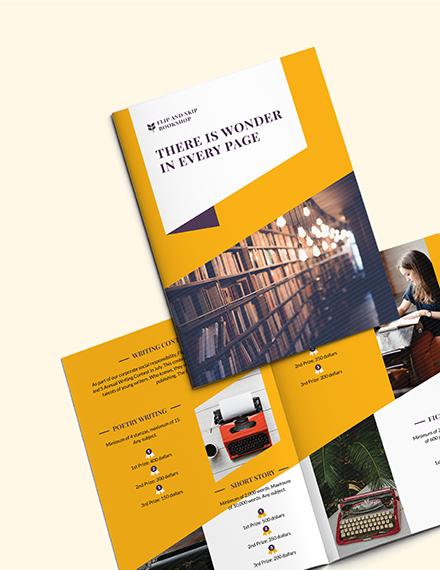 Sample Book Store BiFold Brochure