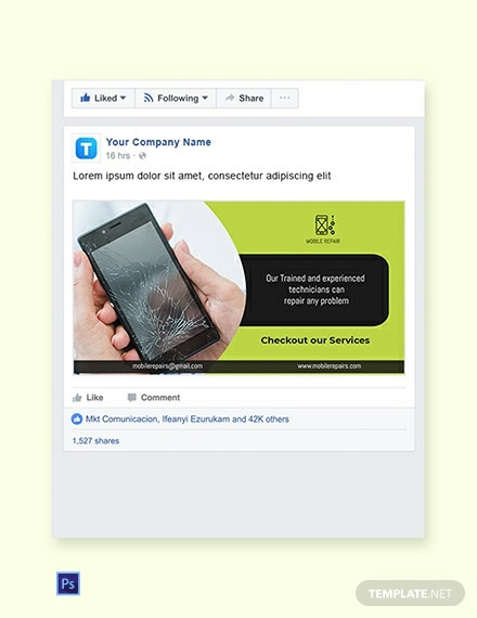 Phone Repair Facebook Ad Banner Template