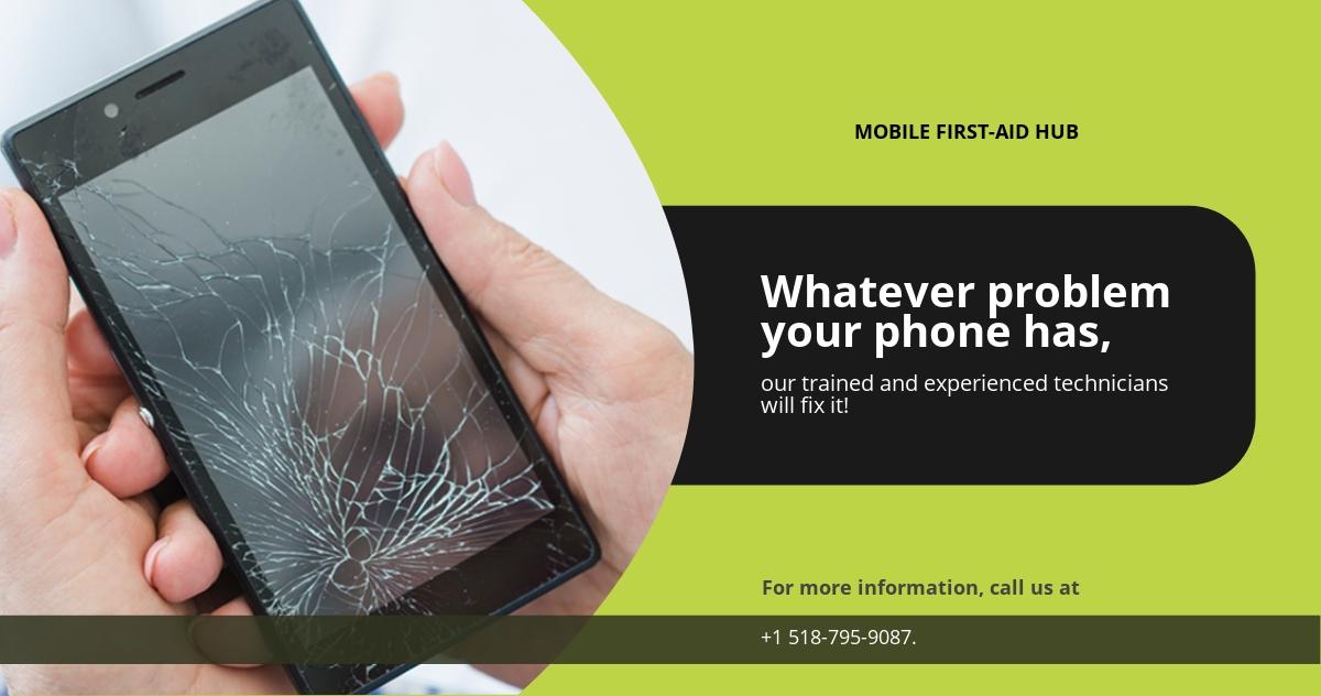 Phone Repair Facebook Ad Banner Template