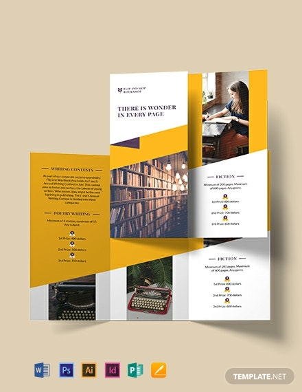Book Store Tri-Fold Brochure Template