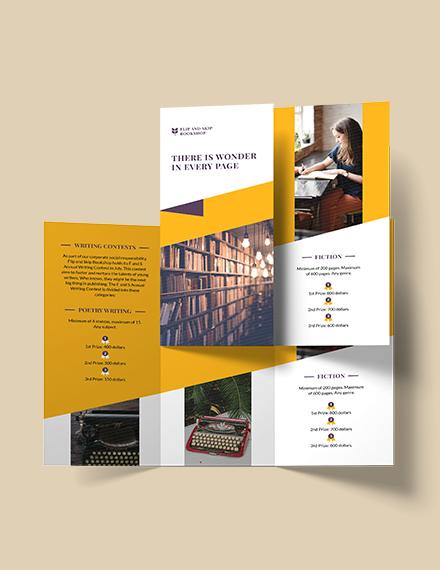 Book Store Tri-Fold Brochure Template