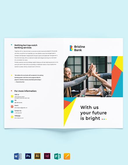 Business Banking Bi-Fold Brochure Template