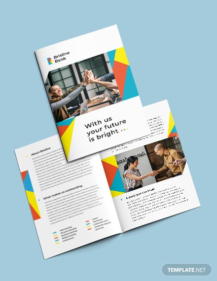 Business Banking Bi-Fold Brochure Template