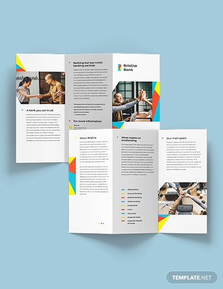 Business Banking Tri-Fold Brochure Template