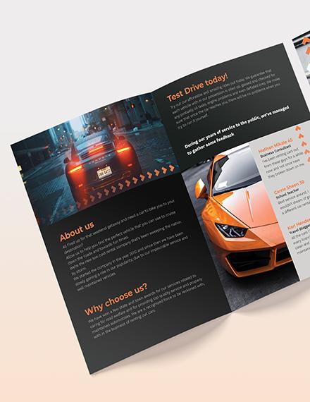 Car Rental BiFold Brochure Download