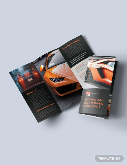 Car Rental TriFold Brochure Download