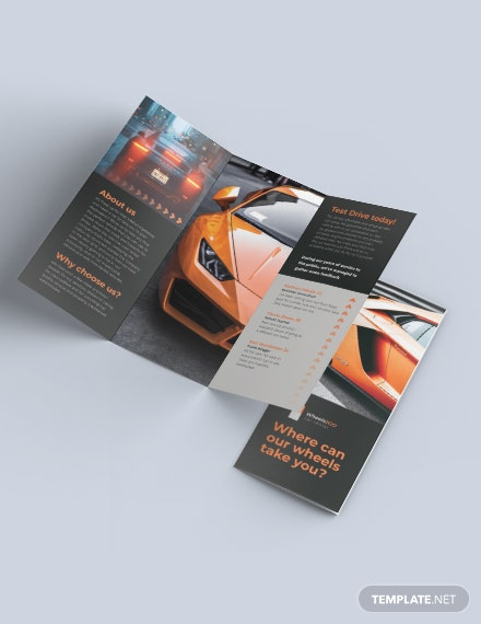 Car Rental TriFold Brochure Template