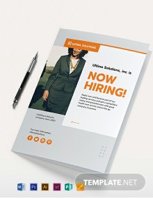 Employee Recruitment Bi-Fold Brochure Template