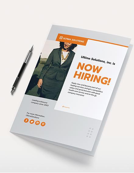 Employee Recruitment Bi-Fold Brochure Template
