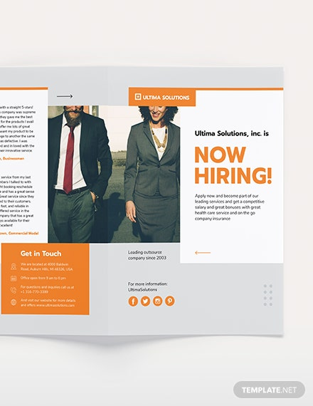 Sample Employee Recruitment BiFold Brochure