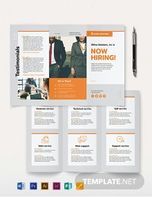 Employee Recruitment Tri-Fold Brochure Template